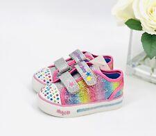 "NEW! Skechers Toddler Girl's Sneakers Size 8 Shoes S Sport ""Skyla"" Rainbow"