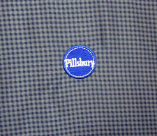 PILLSBURY DOUGHBOY pull-over jacket 2XL Poppin Fresh XXL round logo OG checked