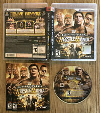 WWE Legends Of WrestleMania - Ps3 ( Sony Playstation 3 ) Complete W/box @ Manual