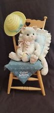 """Calico Kittens by Enesco """"Waiting For A Friend Like You"""" 1992 Large Figurine"""