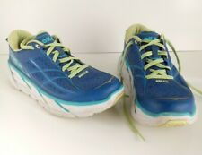Hoka One One Clifton 2 Blue Green Active Lightweight Running Womens Shoes Size 9