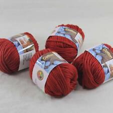 Sale 4BallsX50g Thick Worsted 100% Cotton Hand Knitting Yarn Poppy Red 422-18