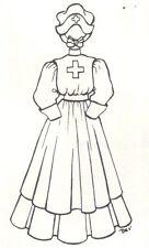 "19-20"" Nurse Doll Dress Pattern Victorian German French Antique vintage look 732"