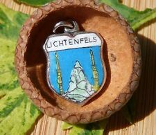 VINTAGE 800 SILVER enamel LICHTENFELS Germany shield CHARM (C-170)