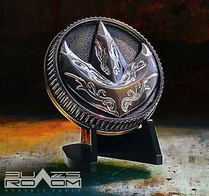 Antique gold Fighting Spirit metal coin Power Green ranger Dragonzord no morpher