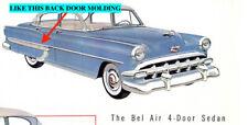 NOS CHEVROLET 1954 BEL AIR 210 REAR DOOR MOLDING RH  7