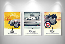 RETOUR VERS LE FUTUR - BACK TO THE FUTURE X 3 Posters Format A3 297 x 420 mm