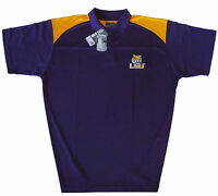 LSU Tigers NCAA Men's Polo Shirt Purple and Gold Big & Tall Sizes