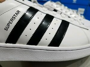 SIZE:11 adidas ORIGINALS Patent Leather  SUPERSTAR  Sneakers White / BLACK LAST1