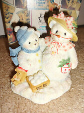 Cherished Teddies 2000 Synidcated Catalog Frosty and Aurora Snowbears 706884 Nib