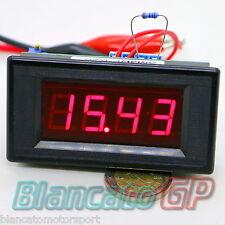OHMMETRO DIGITALE DA PANNELLO LED 0-20 ohm DC Ohmetro ohmmeter misura resistenza
