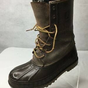 Lacrosse Lined Duck Boots Size 7 Brown Lace Up Winter Hunting Snow Outdoors