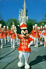 Postcard Walt Disney World. Drum Major Mickey Mouse Leads the Band. J