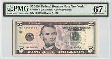 United States 2006 Fr. 1993-B PMG Superb Gem UNC 67 EPQ 5 Dollars FRN New York