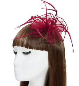 New Ladies Organza comb fascinator with feathers