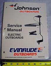 Johnson Evinrude Boat 'EU' Electric Trolling Motor Repair Service Manual, 507260