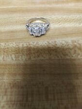 White Gold Diamond Emerald 9×7cm Cushion Cut Moissanite Ring Size6,8&11 Any Size