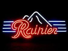 "New Rainier Mountain Open Beer Bar Neon Light Sign 24""x20"""