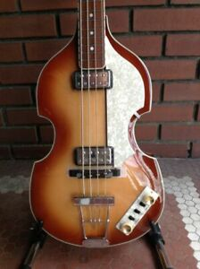 NEW 2021 HOFNER CONTEMPORARY CT BEATLE BASS GUITAR WITH TEACUP KNOBS AND CASE