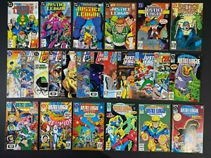Lot of (24) Different Justice League (1987-92) DC Comics MoreListed