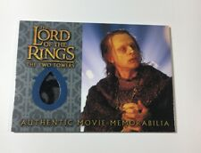 Lord Of The Rings Movie Memorabilia Relic Card Wormtongue's Velvet Underfrock