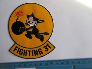 US Army Tomcatter Wildcat Felix the Cat Tomcat Fighting 31 Bomb Patch Aufnäher