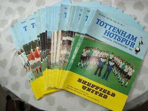 Full set of Tottenham Hotspur 1977-78 home programmes - 24 programmes in all