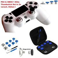 PS4 & XBOX ONE Elite Thumbsticks Set Magnetisch austauschbar 3 versch. Höhen