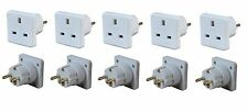 5x Pack of UK to Europe EU Euro Tourist Travel Plug Power Mains Adaptor - White