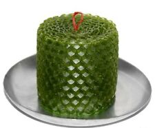 "green BeesWax Candle 2,3"" Honeycomb HANDROLLED Pure Sweet Wax"