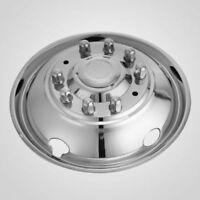 "FORD F53 F59 19.5"" 10 LUG RV MOTORHOME STAINLESS STEEL WHEEL SIMULATOR COVER (2)"