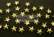 Free Shipping - 100pcs 8mm Gold Nautical Star Shaped Nailhead Studs Spots S014