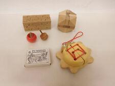 ESF-02098Neuzeitliches 6 St. Holzspielzeug, mit Gebrauchsspuren