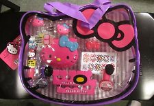 Sanrio Hello Kitty Girls Cosmetics Set in PVC Tote Bag 11 Piece Girls NIP Polish