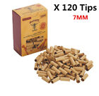 HORNET+120x+Rolling+Paper+Filter+PRE+ROLLED+Natural+UnRefined+Cigarette+Tips+7MM