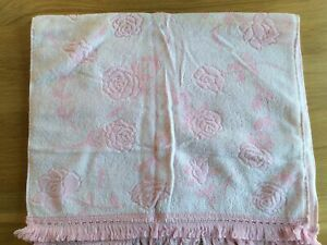 Pair Of Pink & White Zorbit Hand Towels