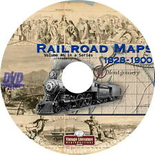 U.S. Historical Railroad Maps { 500 Railroading Images } on Dvd