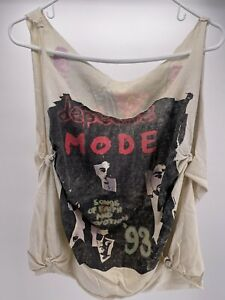 Vintage Depeche Mode Songs of Faith and Devotion Shirt Tank Top 1993 Thrashed