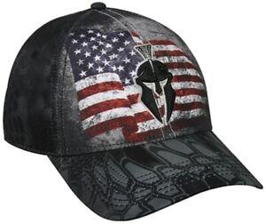 Outdoor Cap Kryptek USA Flag Typhon Camo Black Baseball Hat