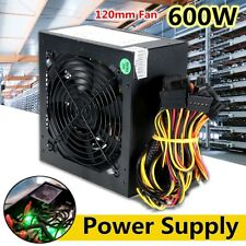 650W PC Power Supply 24Pin ATX Gaming PSU PFC Silent Cooling Fan For Computer