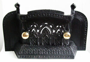 Original Antique Victorian Cast Iron Night Betty / Fireplace Front Bars / Cover