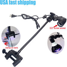 "15"" Adjustable E26 Aquarium Bulb Holder Gooseneck Clamp with ON/OFF Button"