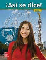 Asi Se Dice! Level 1, Student Edition (Spanish) by Schmitt, Conrad J Book The