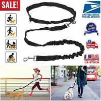 Hands Free/On Dog Leash Waist Belt Retractable Lead For Walking Running Hiking
