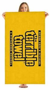 "Pittsburgh Steelers NFL Myron Cope Terrible Beach Towel 30""X60"""