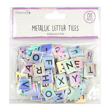 Iridescent Metallic Letter Tiles - Board - Dovecraft - Scrabble Style - 150pcs