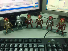 6 PIECES IRON MAN FIGURE-EYE LIGHT FUCTION MK2 MK3 MK4 MK5 MK6 MK42 3.5""
