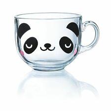 Cute PANDA Glass Mug Tea Coffee Cappucino Animal Novelty Unique Gift Cup clear ❤