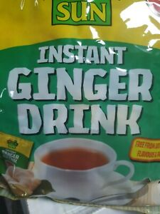 Ginger tea bags TROPICAL SUN INSTANT GINGER TEA 2 X PACK 20 sachets. (40 sachets