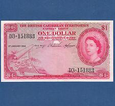 BRITISH CARIBBEAN TERRITORIES 1 Dollar 1958  XF  P.7 c